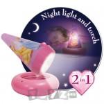 WorldsApart Veioza 2 in 1 Go Glow Printese Disney