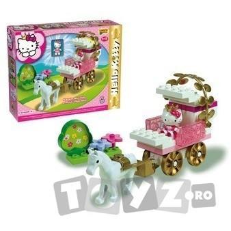 AndroniGiocatolli Cuburi constructie Hello Kitty Trasura de printesa