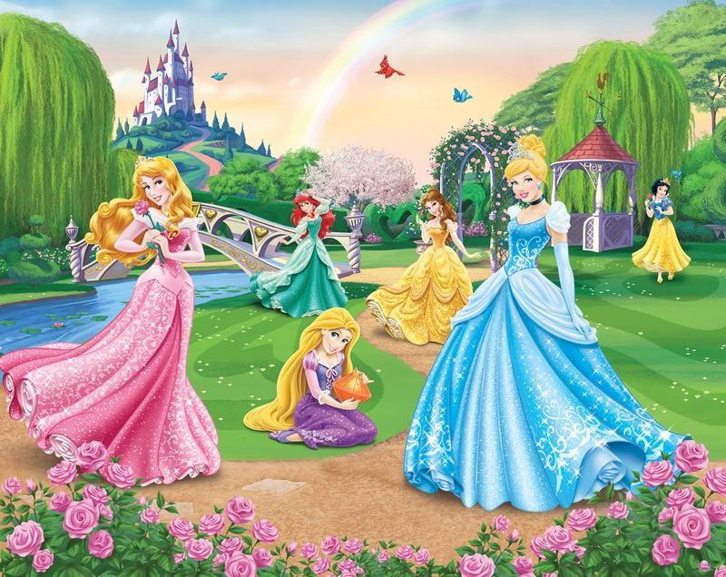 Walltastic Fototapet Printesele Disney (Disney Princess)