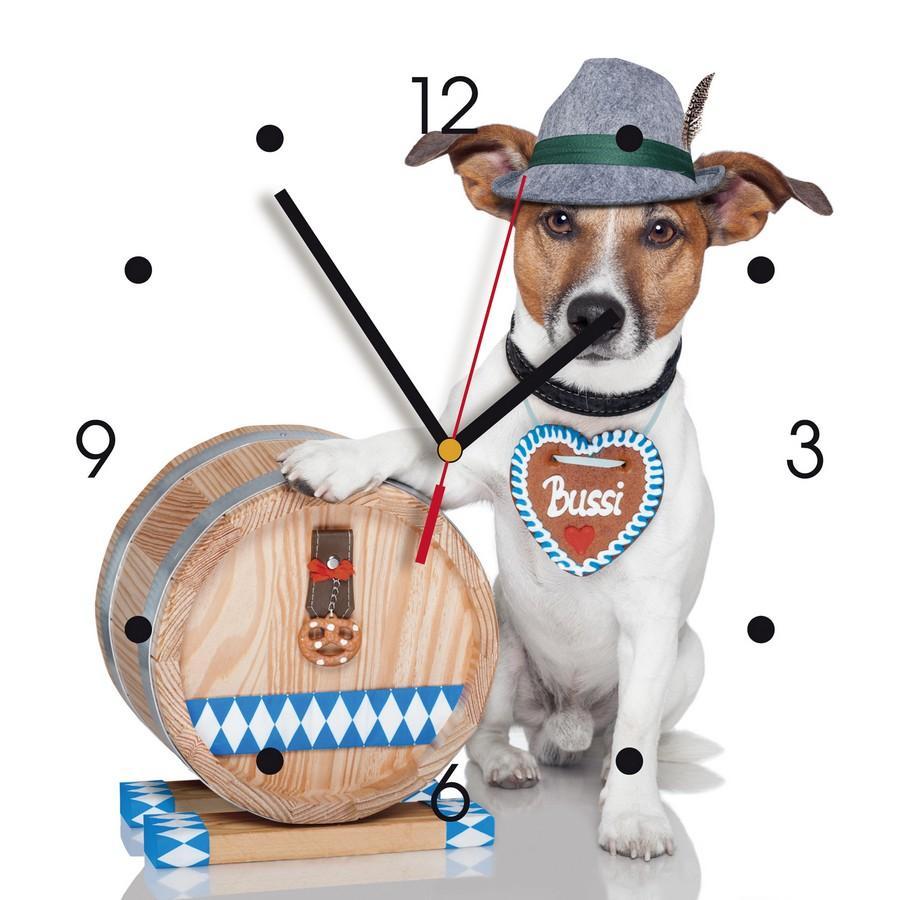 Contento Ceas de perete din MDF – catel bavarez – My Clock