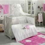 Kidboo Set Lenjerie Pat Copii 9 Piese Cute Bear Pink