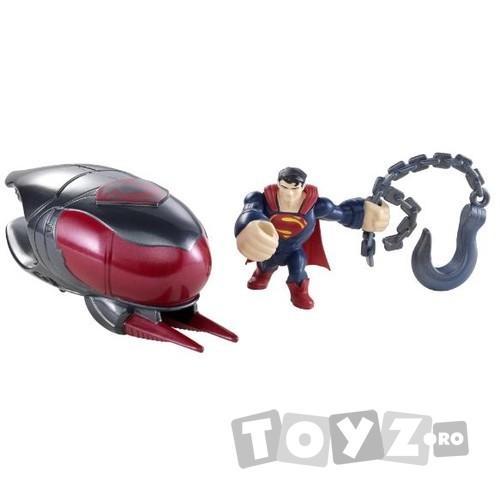 Mattel Superman- figurina lansatoare si vehicul – Cruiser Smash MTY0835-Y5898