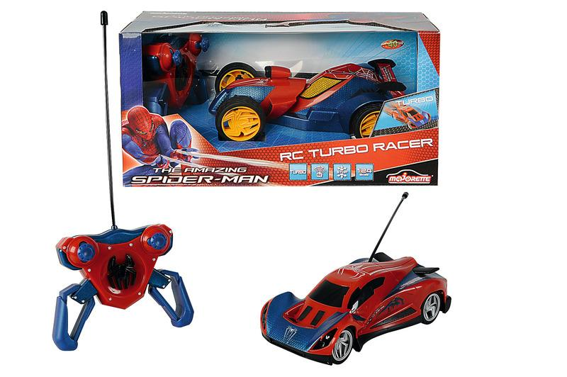 MAJORETTE Spiderman Masina RC 124 Turbo Cu 2 Canale