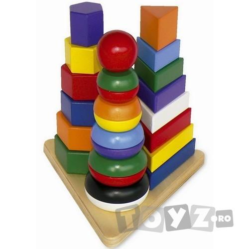 LEGLER Piramida Montessori 3 in 1