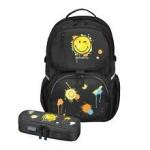Herlitz Rucsac Be.Bag ergonomic + penar Be.Bag Cube Smiley World Black
