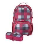 Herlitz Rucsac Be.Bag ergonomic + penar Cube Burgund Bundle carouri