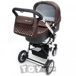 KinderKraft Carucior 3 in 1 Kraft Brown