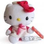 Intek Mascota Hello Kitty 16 cm,cu rochita roz