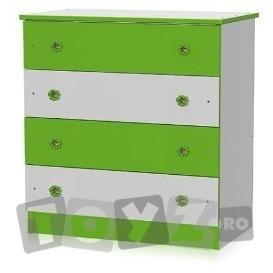 Bertoni COMODA LEMN cu 4 sertare – culoare White / Green 1017007 0023