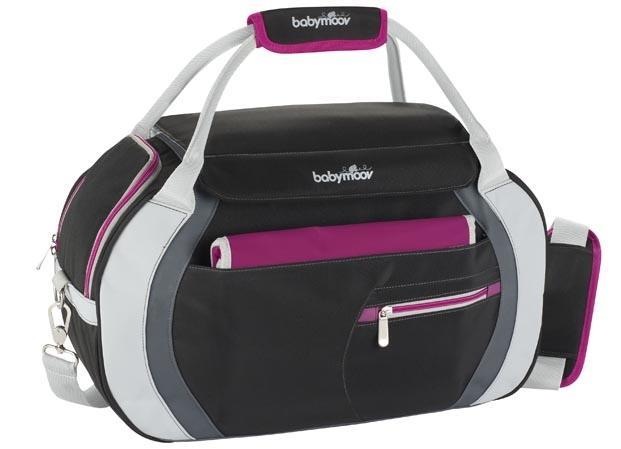 babymoov Babymoov-A043517-Geanta multifunctionata Sport Style Bag black/hibiscus