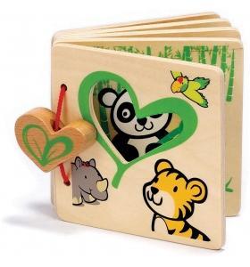 Hape Jucarie eco din lemn Carticica Eco Book My First Hape
