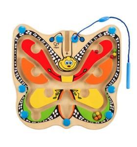 Hape Jucarie eco Labirint Magnetic Fluture colorat Hape