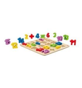 Hape Jucarie eco din lemn Puzzle cu Cifre Hape