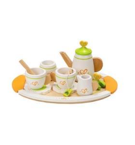 Hape Jucarie eco din lemn Set de ceai pentru doi Hape