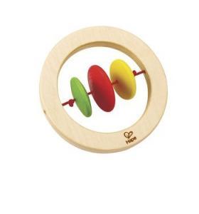 Hape Jucarie eco din lemn Baby Twirler Rattle Ring Hape