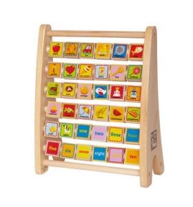 Hape Jucarie eco din lemn Alfabet Abacus Hape
