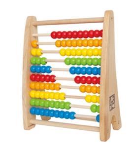 Hape Jucarie eco din lemn Rainbow Bead Abacus Hape