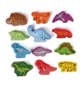 Hape Jucarie eco din lemn Animale preistorice Dinozauri Hape