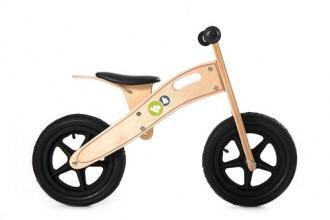 Kinderkraft KinderKraft – Bicicleta din lemn fara pedale Runner Deluxe Natural / Green