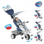 Smart Trike Smart Trike – Tricicleta Recliner Stroller 4 in 1 Denim