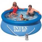 Intex Intex – Piscina Easy Set cu Pompa de Filtrare 244 x 76 cm