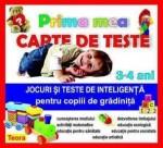 Teora PRIMA MEA CARTE DE TESTE 3-4 ANI JOCURI SI TESTE DE INTELIGENTA PENTRU COPIII DE GRADINITA