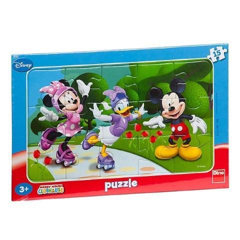 DINO TOYS Puzzle Minnie si prietenii sai (15 piese)