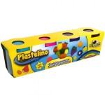 PLASTELINO Plastelino – Pasta de modelat Neon (4 culori)