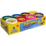 PLASTELINO Plastelino – Multipack (8 culori)